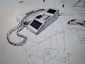Ontwerp telefoon, schetsen